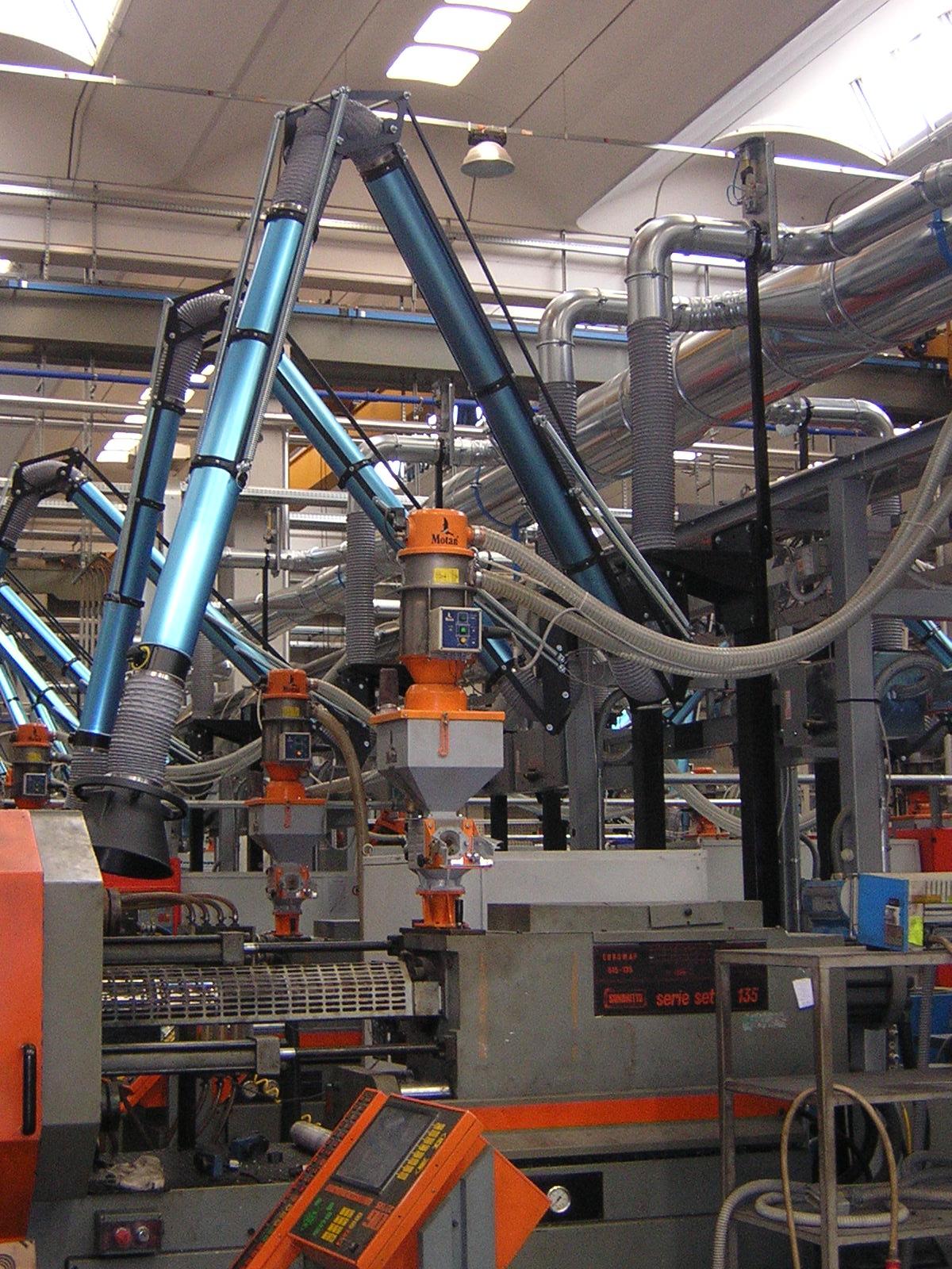 impianti di aspirazione plastica