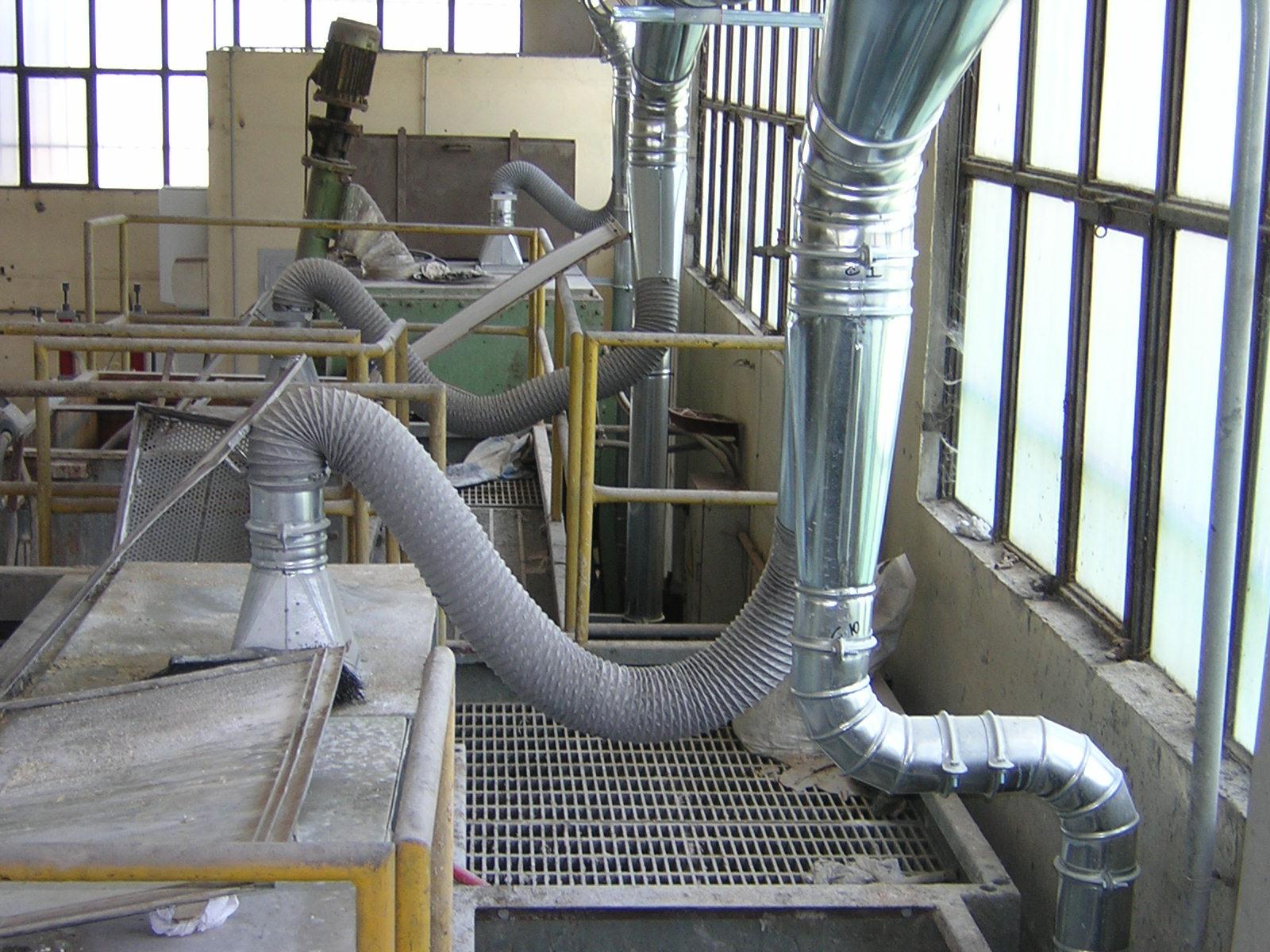 impianto aspirazione industria chimica