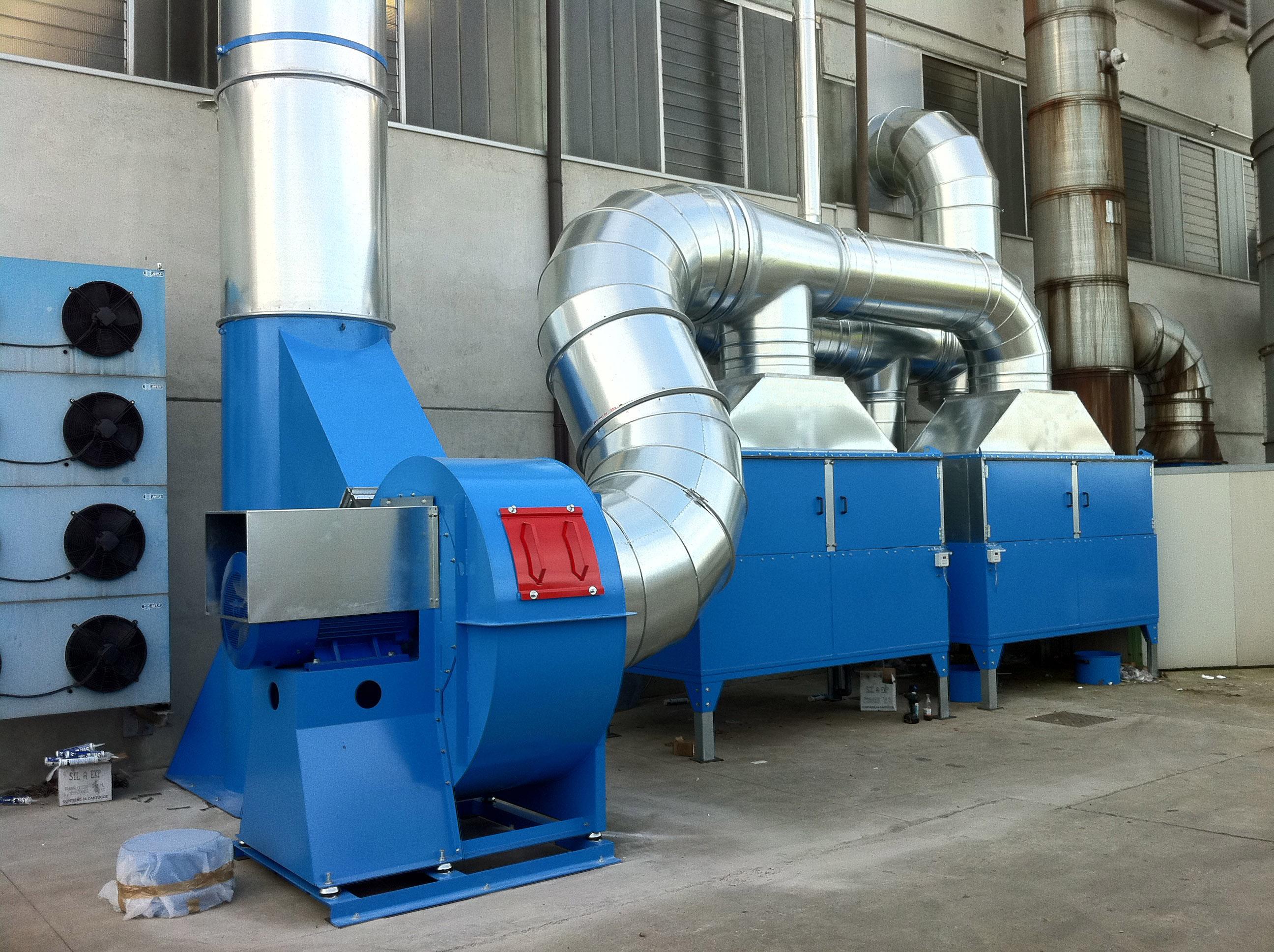 impianto ventilazione cantiere navale