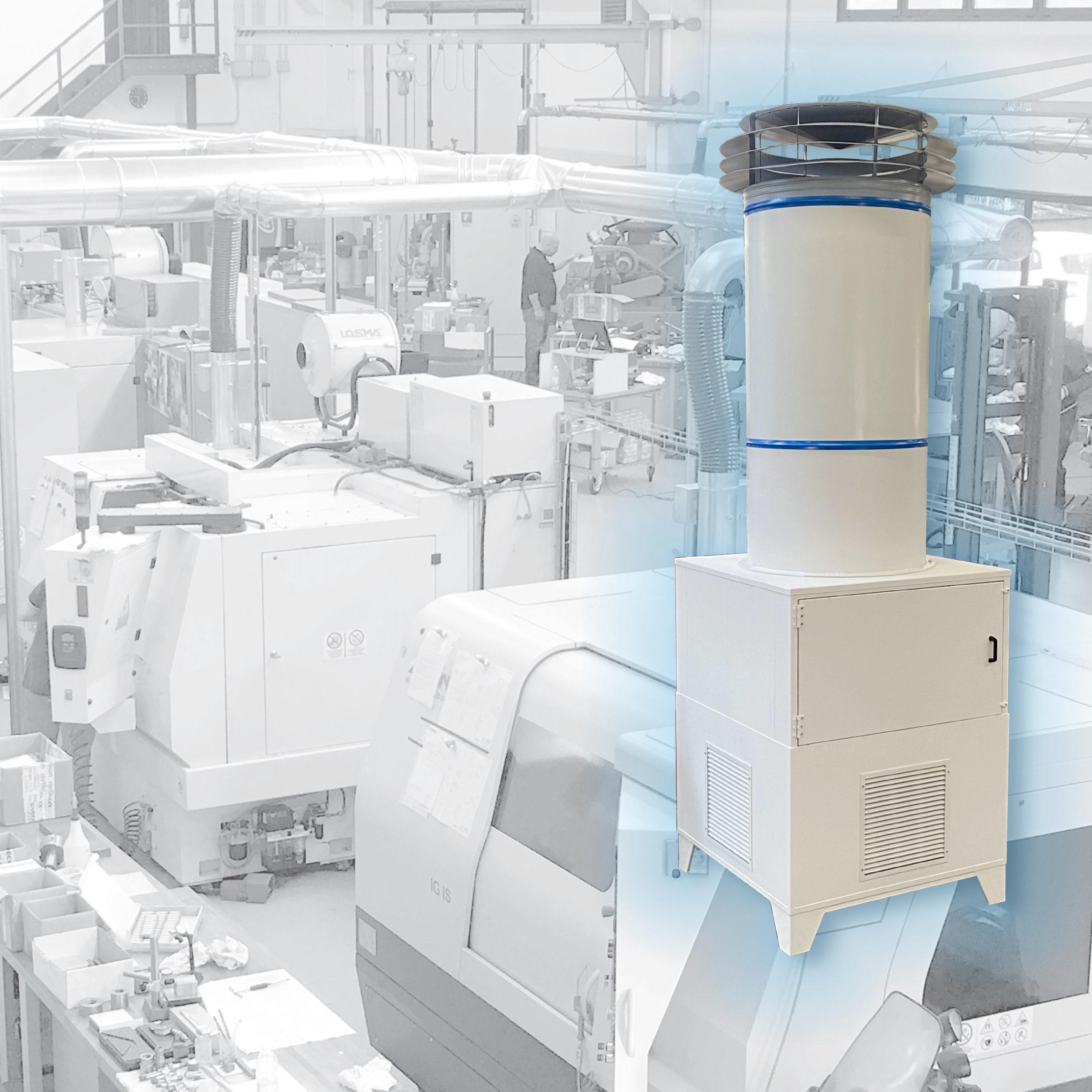 AIR-PURO: il purificatore d'aria industriale per grandi ambienti industriali e civili